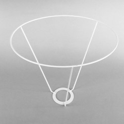 cercle abat-jour diamètre 25 avec V de 25