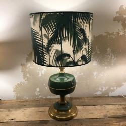 lampe ancienne avec anbat-jour cylindrique en papier