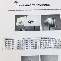 Gabarits abat-jour tambours