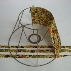 carcasse d'abat-jour tambour avec des rubans de tissu tendu