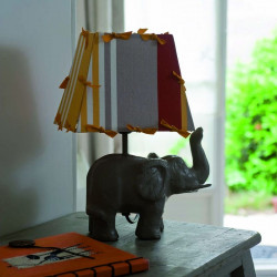 lampe éléphant avec abat-jour rectangle