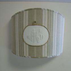 applique vénitienne avec tissu ancien contrecollé sur polyphane