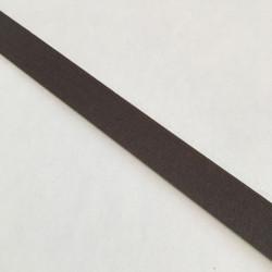 Bordure adhésive coton taupe foncé