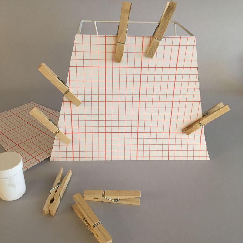 kit abat-jour rectangle 30cm