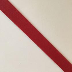Bordure adhésive coton rouge