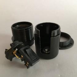 douille noire E27 avec interrupteur intégré