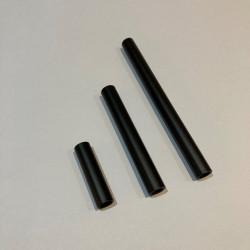 tube creux en métal noir mat