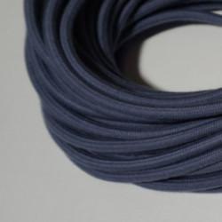 Câble rond coton gris bleu