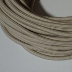 Câble rond  coton  tourterelle