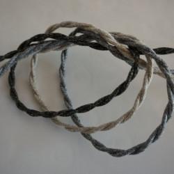 fils électriques torsadés en lin