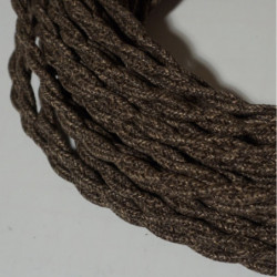 Câble torsadé lin marron