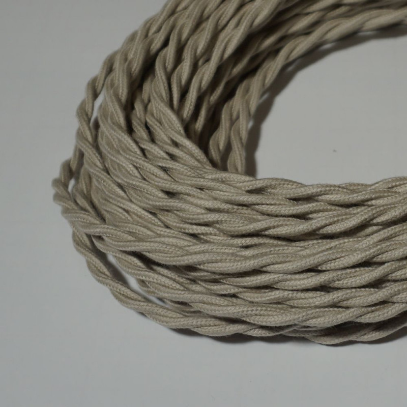 câble électrique textile torsadé