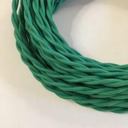 Câble torsadé vert vif