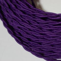 Cable  torsadé violet