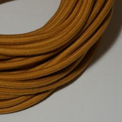 Câble rond coton moutarde
