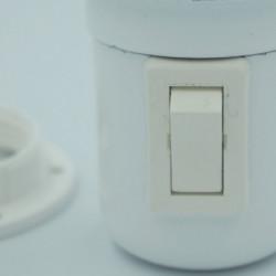 Interrupteur intégré dans douille Bakélite blanche