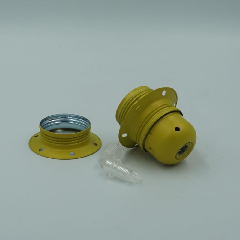 Douille E27 en métal couleur jaune