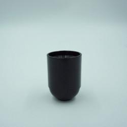 Douille lisse noire E27