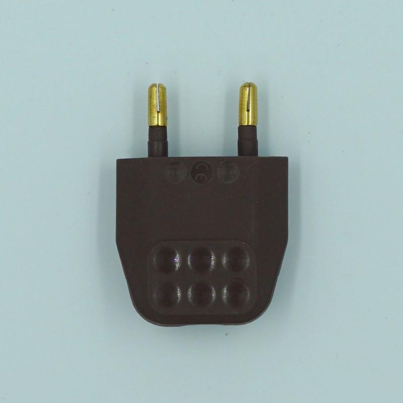 fiche électrique marron