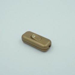 Interrupteur rectangulaire doré
