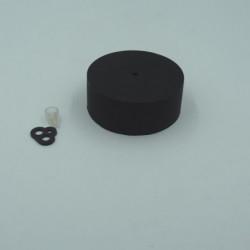 Pavillon en silicone noir