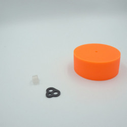 Pavillon en silicone orange
