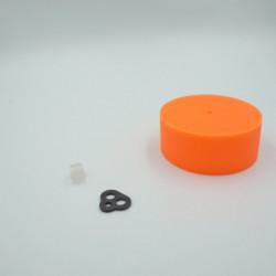 Pavillon en silicone orange