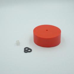 Pavillon en silicone rouge