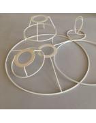 Cercles d'abat-jour et formes d'abat-jour pour la réalisation d'abat-jour contrecollés