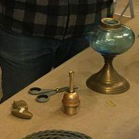 électrification d'une lampe à huile