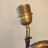 rotule en laiton et douille E27 dorée pour équiper un objet monté en lampe