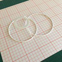 cercles abat-jour et polyphane blanc adhésif